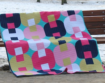 Jams and Jellies Quilt 54x81 inches PDF pattern