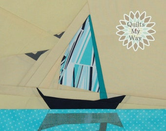 The Sailboat - paper piecing PP pdf Pattern