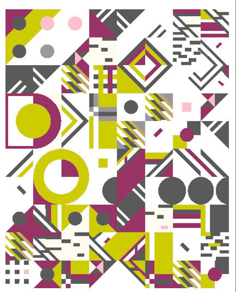 Geometric Fun Quilt part 3