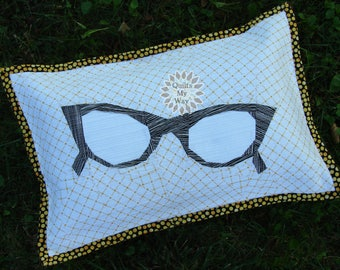 "Vintage Sunglasses - paper piecing PP pdf Pattern 20""x14"""