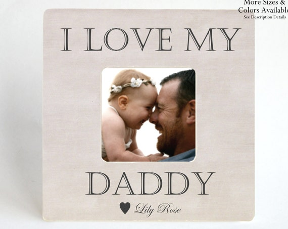 Gift To Father New Dad Picture Frame Personalized From Baby Kids Child Custom Photo I