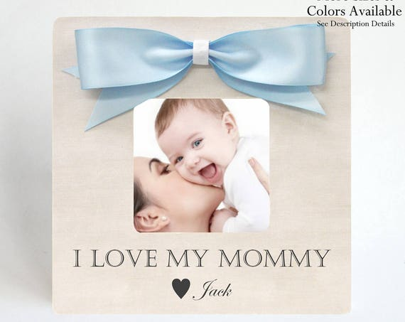 Gift Mom Mother From Son Picture Frame Personalized Birthday Ideas Photo Baby Shower New To Be Expecting Pregnancy