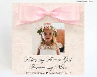 Personalized Frame Flower Girl Frame Flower Girl Gift Custom Frame WILL you be my FLOWER GIRL Gift from Bride to Flower Girl