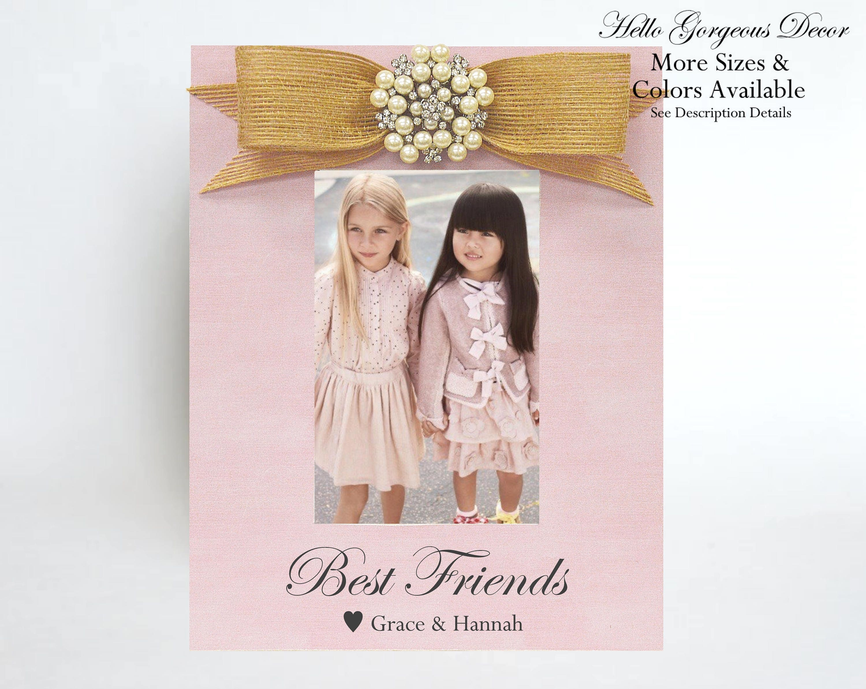 Best Friend Gift Picture Frame Best Friends Birthday Gift For Girls