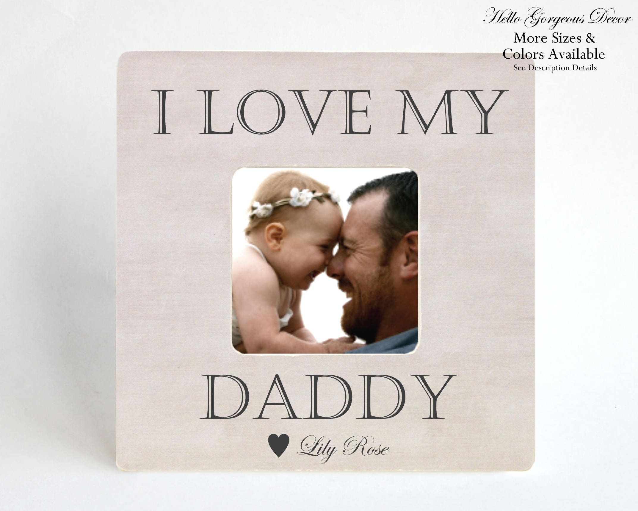 valentine s day gift to dad from daughter son picture frame i love