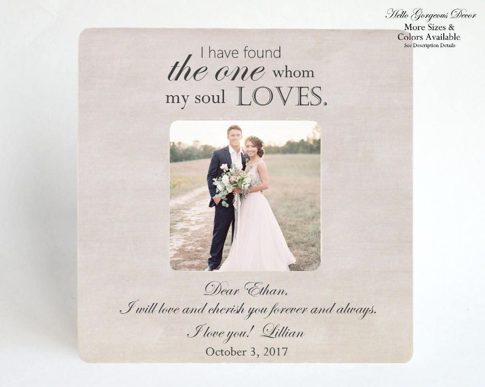 Wedding Date Picture Gift: Wedding Day Gift For Husband / Wife