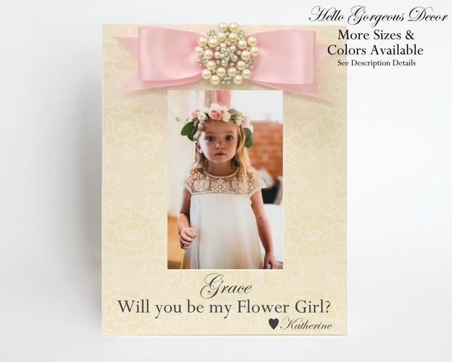 Flower Girl Picture Frame Proposal Gift Ask Will You Be My Flower