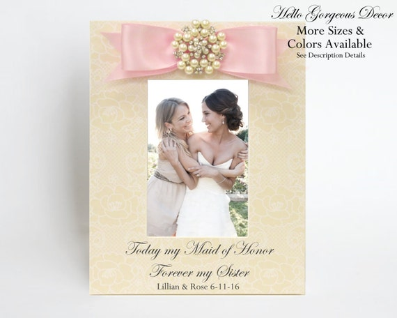 Maid Of Honor Sister Gift Today My Maid Of Honor Forever My Etsy