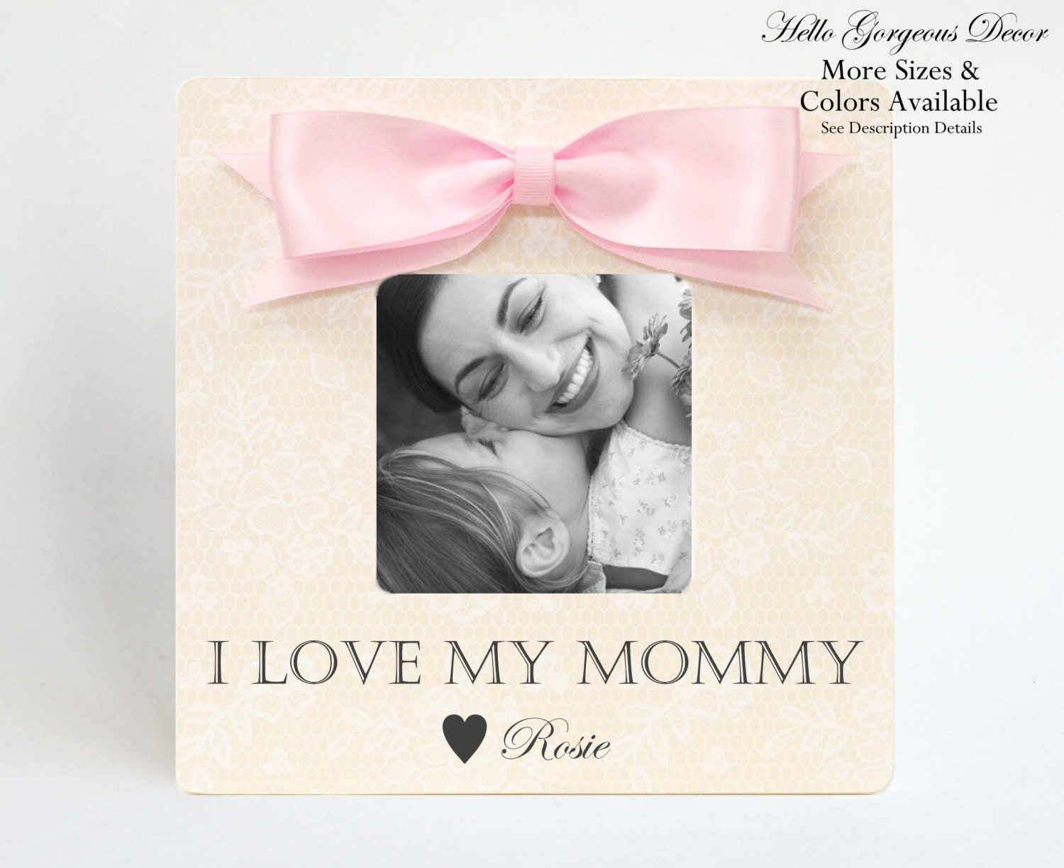 Personalized Mom Mother Picture Frame Gift I LOVE MY MOMMY from Kids ...