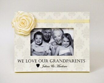 Grandparents Gift from Baby / Kids Personalized Picture Frame Grandmother Gift Grandparents Day Gift We Love Our Grandparents Photo Frame