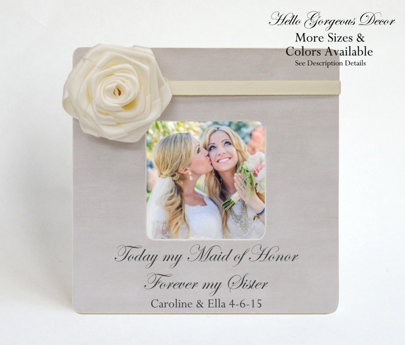152613b23c Maid of Honor Sister Picture Frame Ask Thank You Proposal
