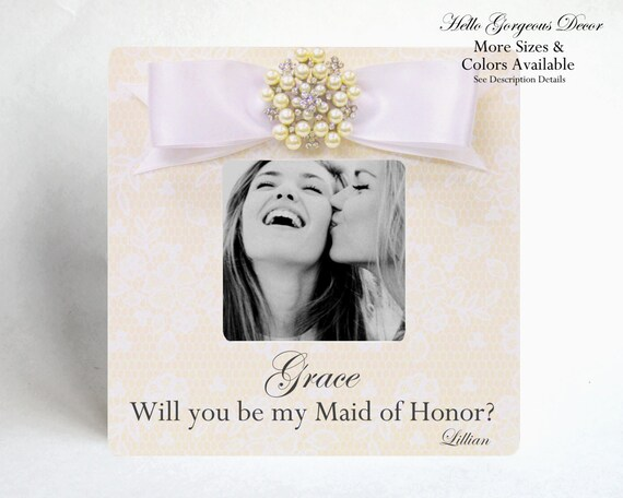 Maid Of Honor Proposal Gift To Sister Ask Will You Be My Maid Etsy