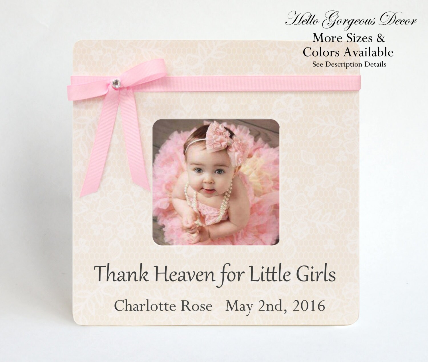 Baby Girl Frame Personalized Gift Ideas Newborn Picture Frame Baby ...