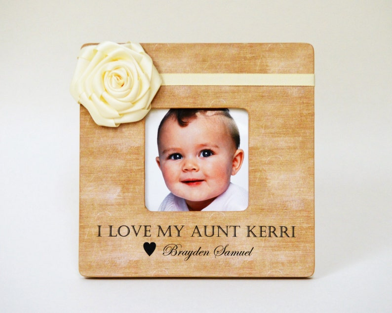 Personalized Aunt Picture Frame Gift Custom Auntie Niece image 0