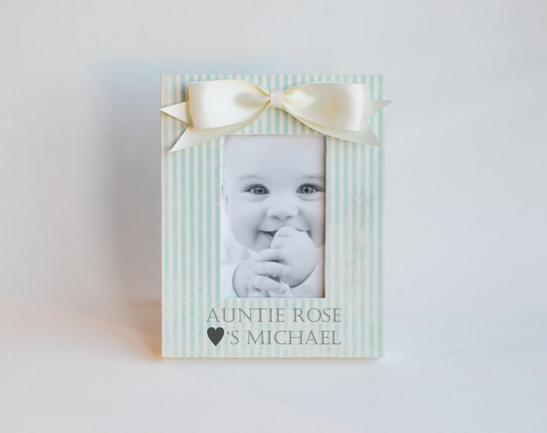 Aunt Nephew Picture Frame Personalized Auntie Loves You Gift image 0