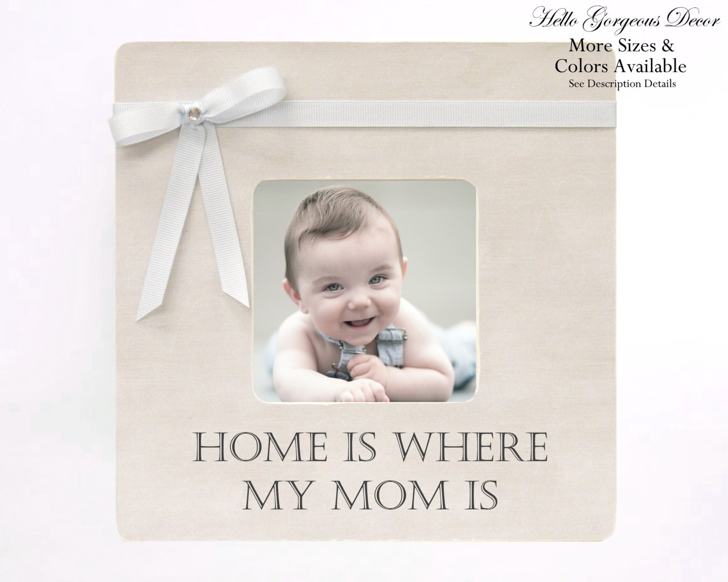Baby Shower Gift Picture Frame Boy New Expecting Mother Mom Photo Frame Present From Kids Son Nursery Decor Ideas Home Is Where My Mom Is