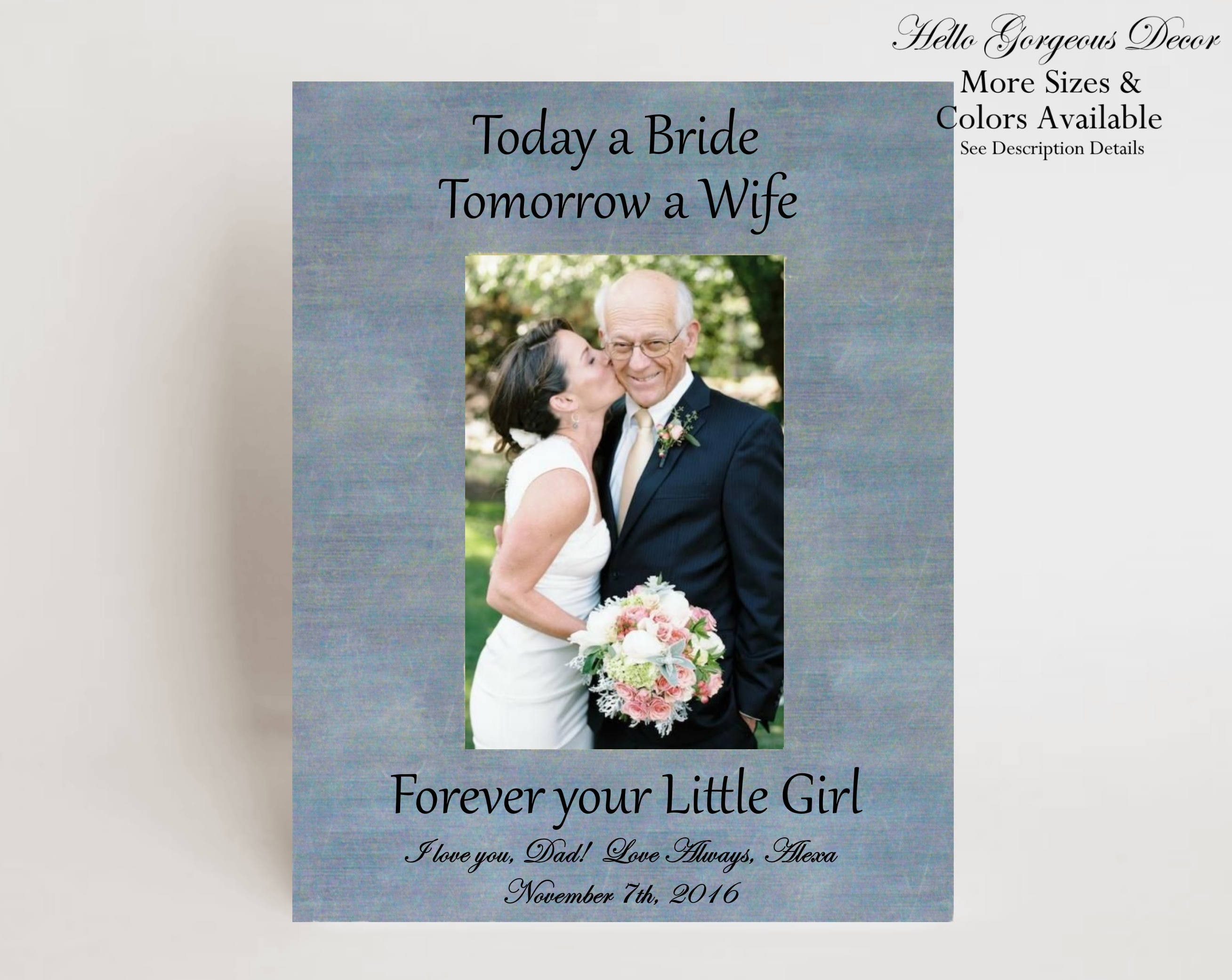 Father Gift To Daughter On Wedding Day: Father Of The Bride Picture Frame Gift To Dad From