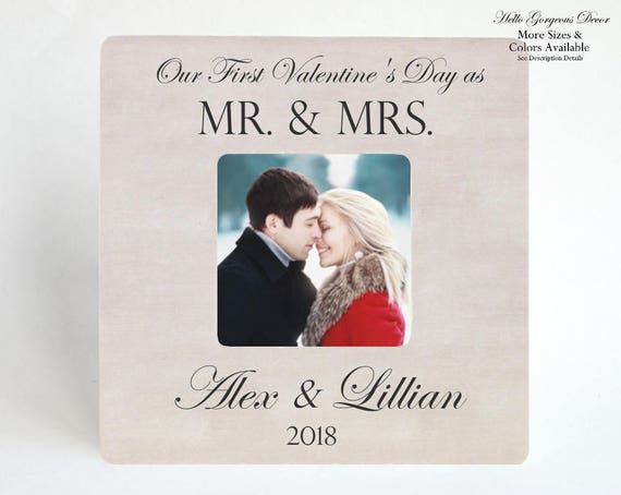 Valentine S Day Gift To Husband Wife Picture Frame Etsy