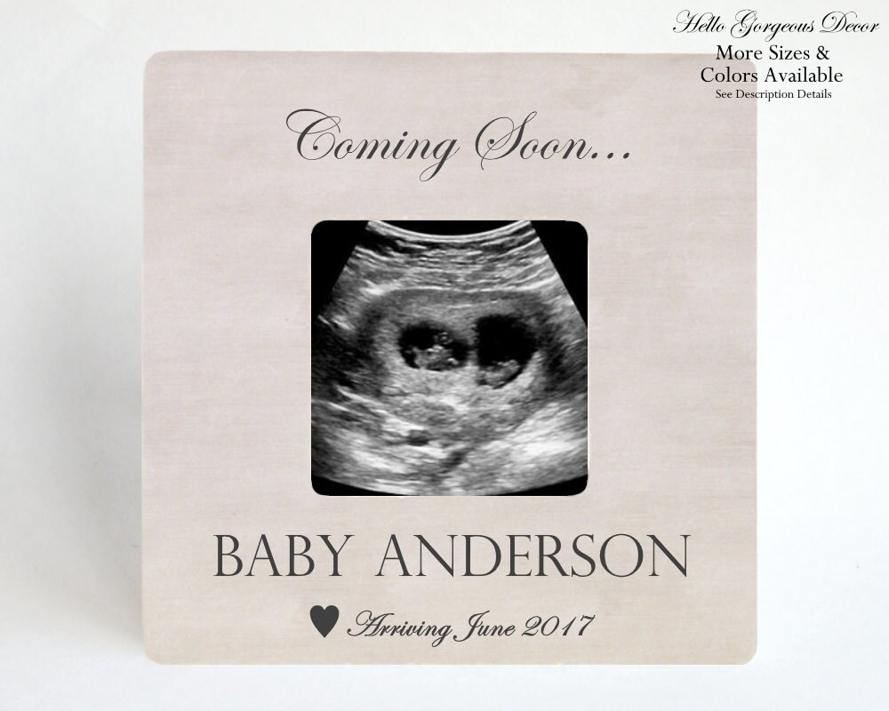 Pregnancy Announcement Picture Frame Ultrasound Frame Expecting ...