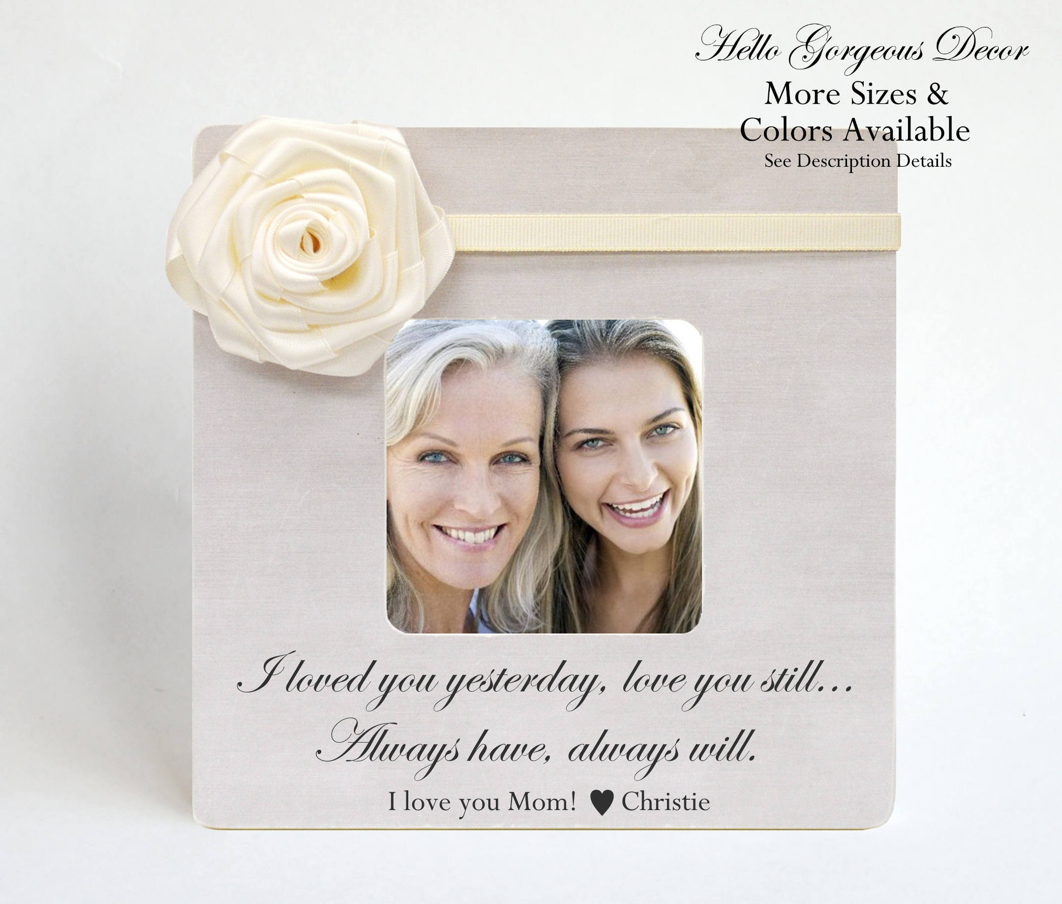 Valentine\'s Day Mom Mother Gift from Daughter / Son - PERSONALIZED ...