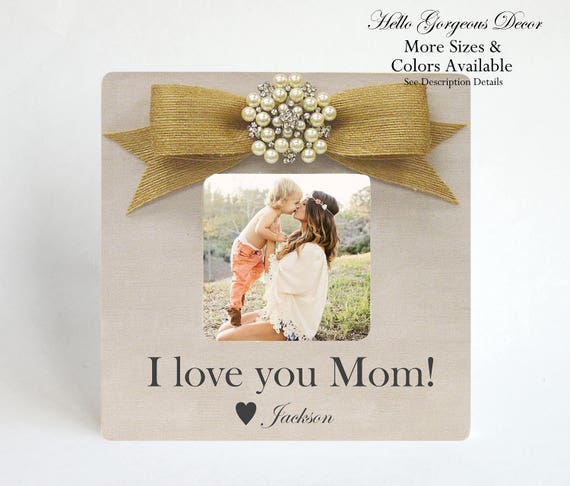 Mom Mother Picture Frame Gift To From Son Birthday