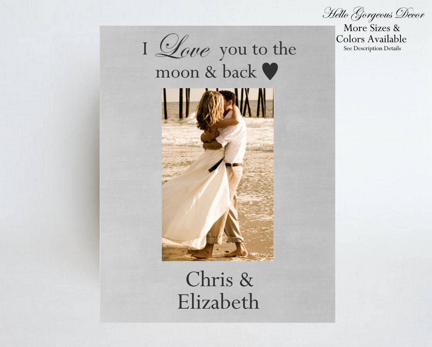 Valentines Day Gift For Him Her Personalized Picture Frame I