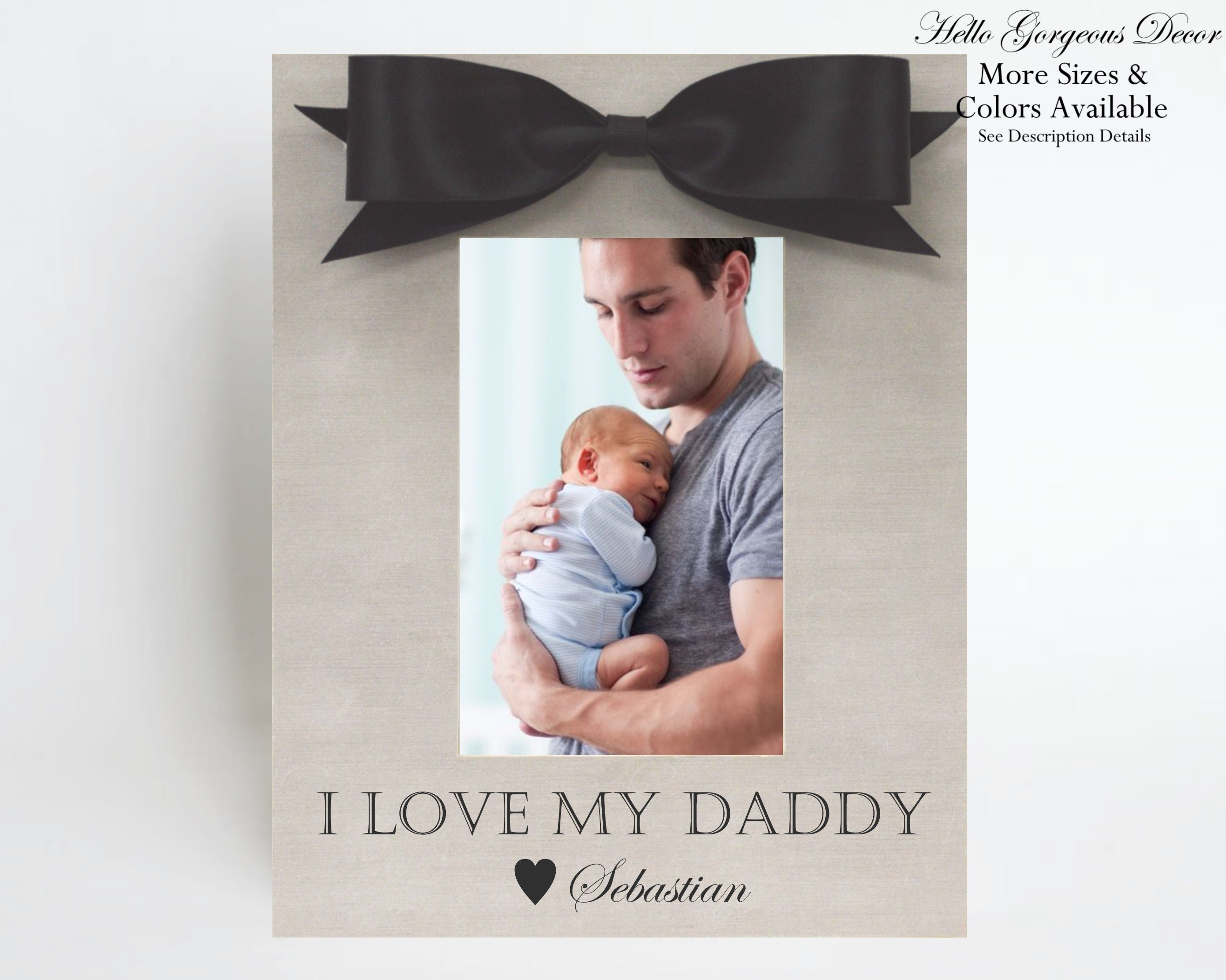 Fathers Day Gift For Dad From Daughter Son Personalized Picture