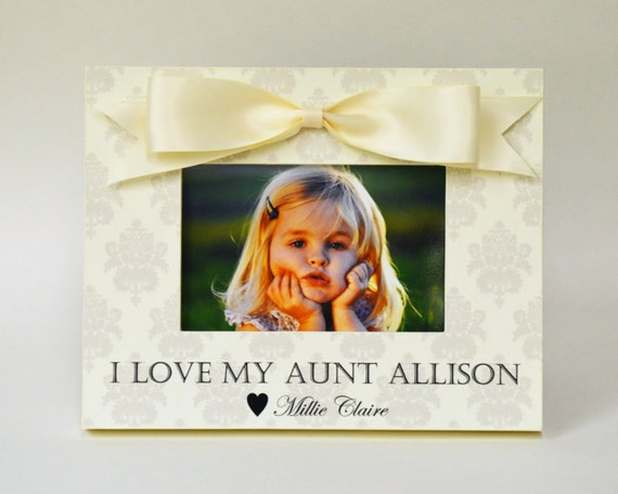 Personalized Aunt Picture Frame Gift From Niece Nephew To Etsy