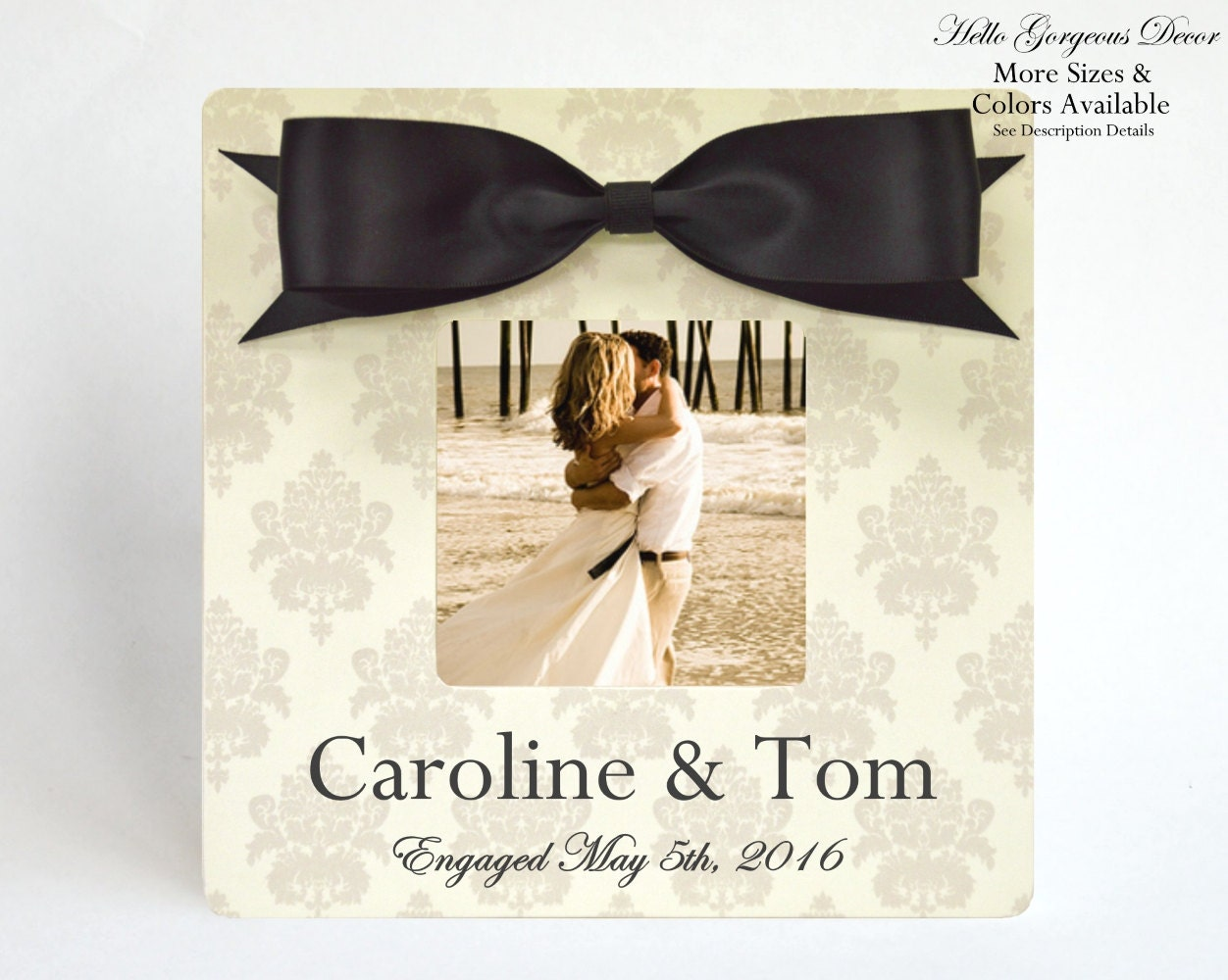 Engagement Picture Frame Gift to Couple Newly Engaged Gift Ideas ...