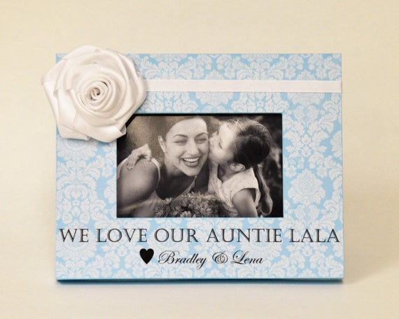 Personalized Aunt Gift Picture Frame From Niece Nephew Ideas Etsy