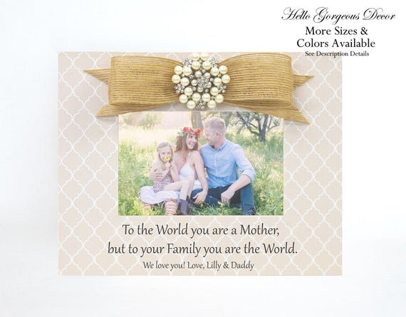 Gift For Mother Mom Picture Frame To New