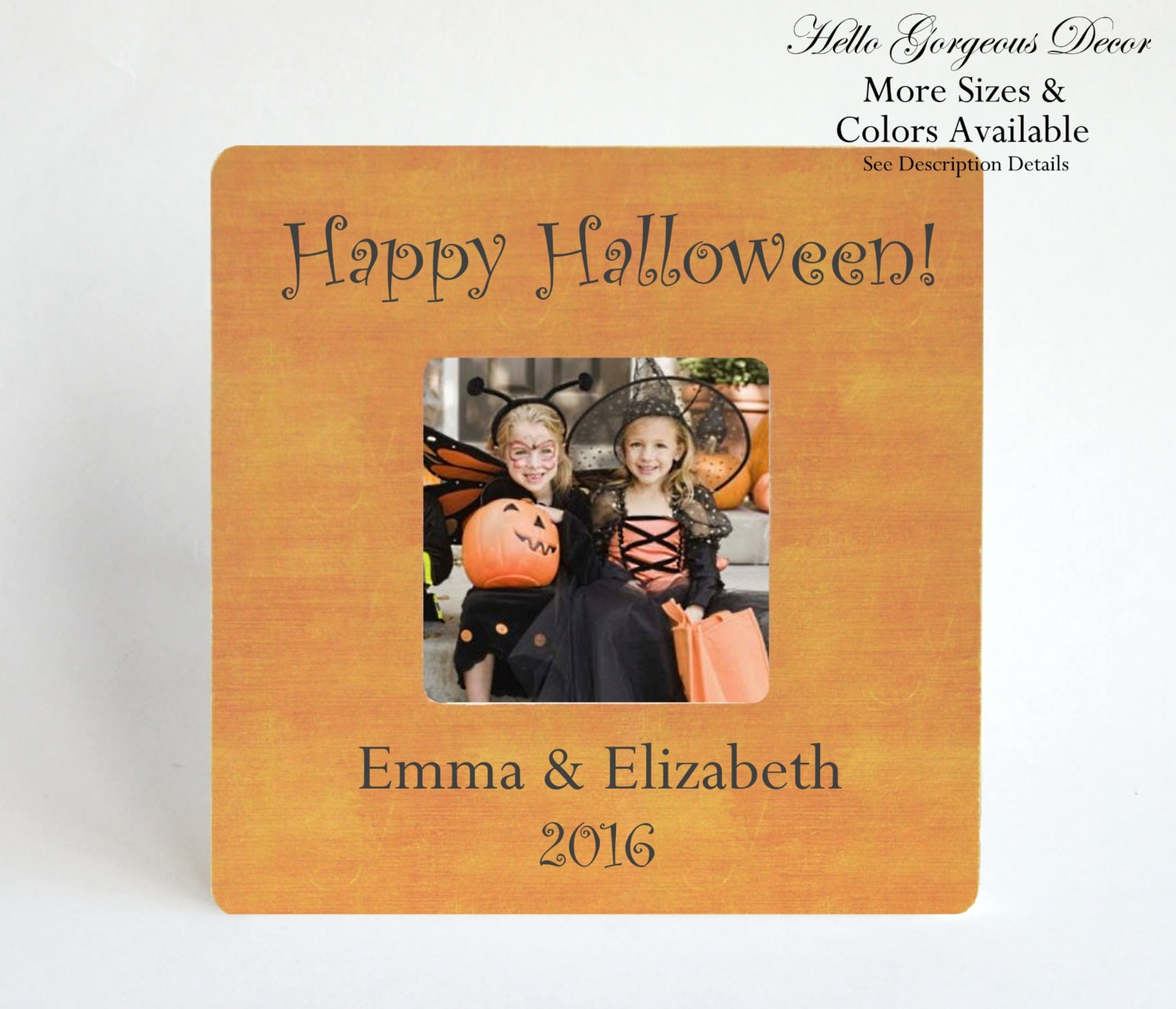 Halloween Picture Frame Personalized Gift to Grandparents Aunt Uncle ...