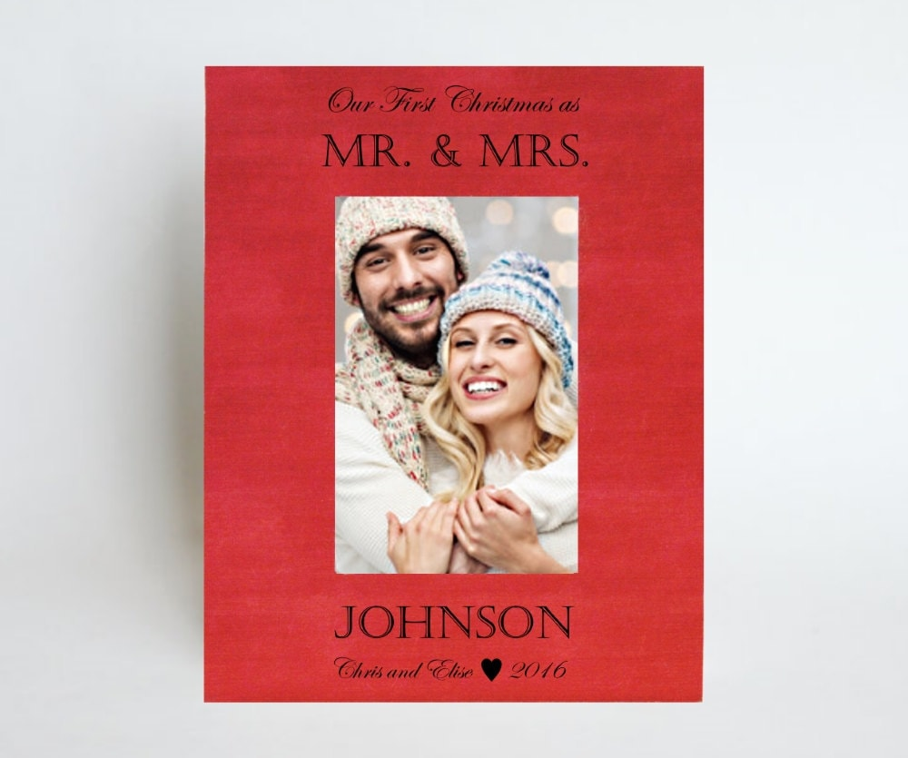 Christmas Gift for Newlywed Picture Frame Wedding Gift for Couple ...