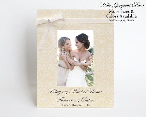 Maid Of Honor Sister Thank You Gift Ideas Picture Frame Ask Etsy