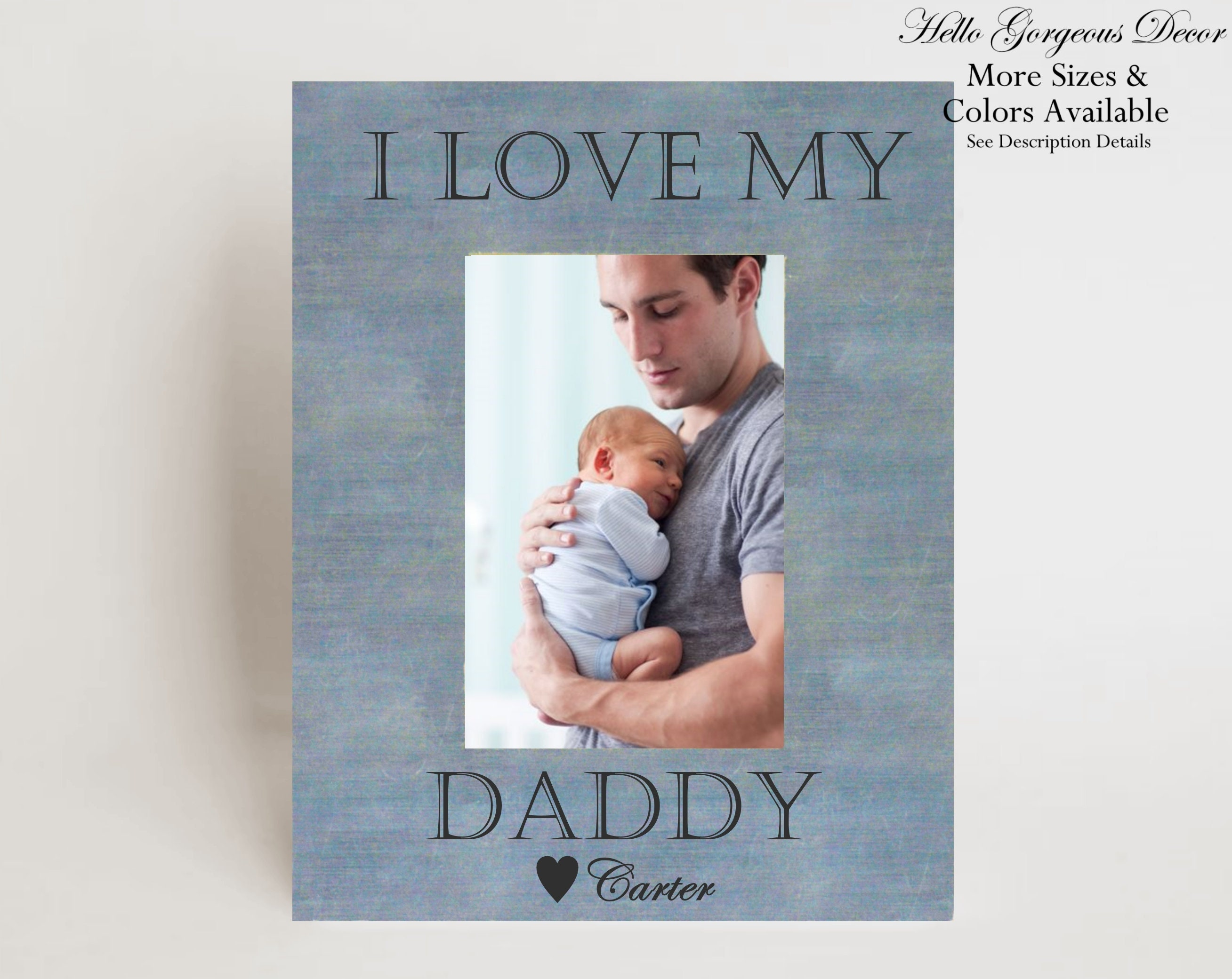 Father\'s Day Gift for Dad from Son Daughter - PERSONALIZED PICTURE ...