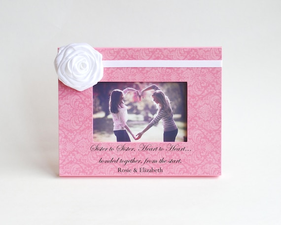 Sister Birthday Gift Picture Frame Sister To Sister Etsy