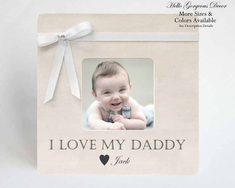Gift To Dad Picture Frame Father From Baby Children Son