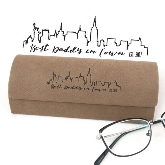 Mrs Gift for Dad MyLaurie Personalized Glasses Case Best Daddy Gift Fathers Day Gift City Skyline Father Eyeglasses Case City Glasses Case