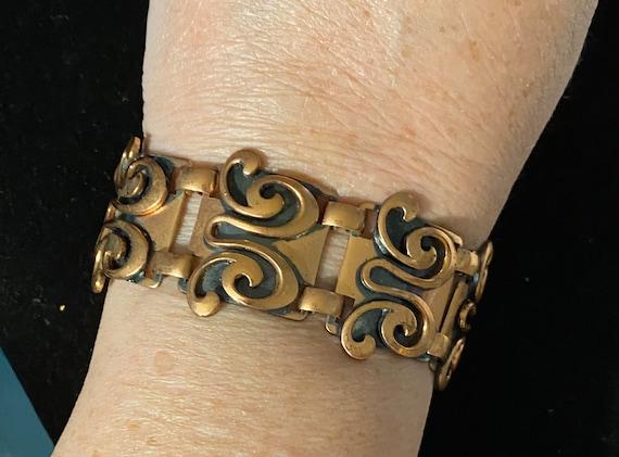 Vintage Mid Century Modern Copper Necklace & Brac… - image 3