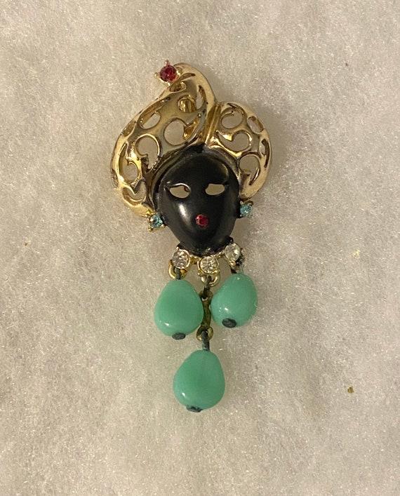 Vintage Blackamoor Pin Brooch