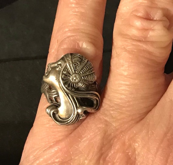 Art Deco Sterling Ring Lady