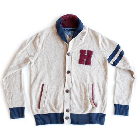 Tommy Hilfiger Varsity Letterman Button Up Cardiga