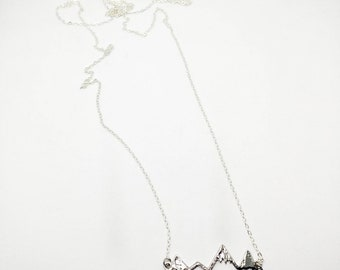 Mountain necklace (large on long chain)