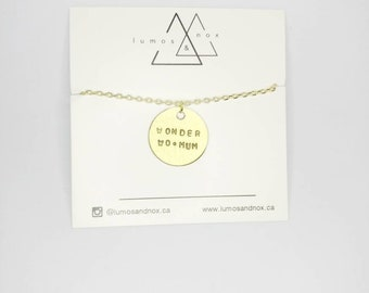 Wonder Wo•mum Necklace | Mother's Day Collection