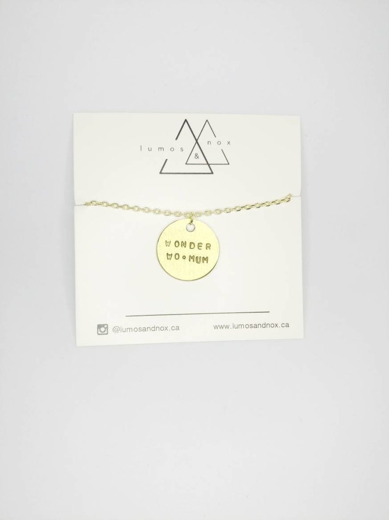 Wonder Womum Necklace  Mother's Day Collection image 0