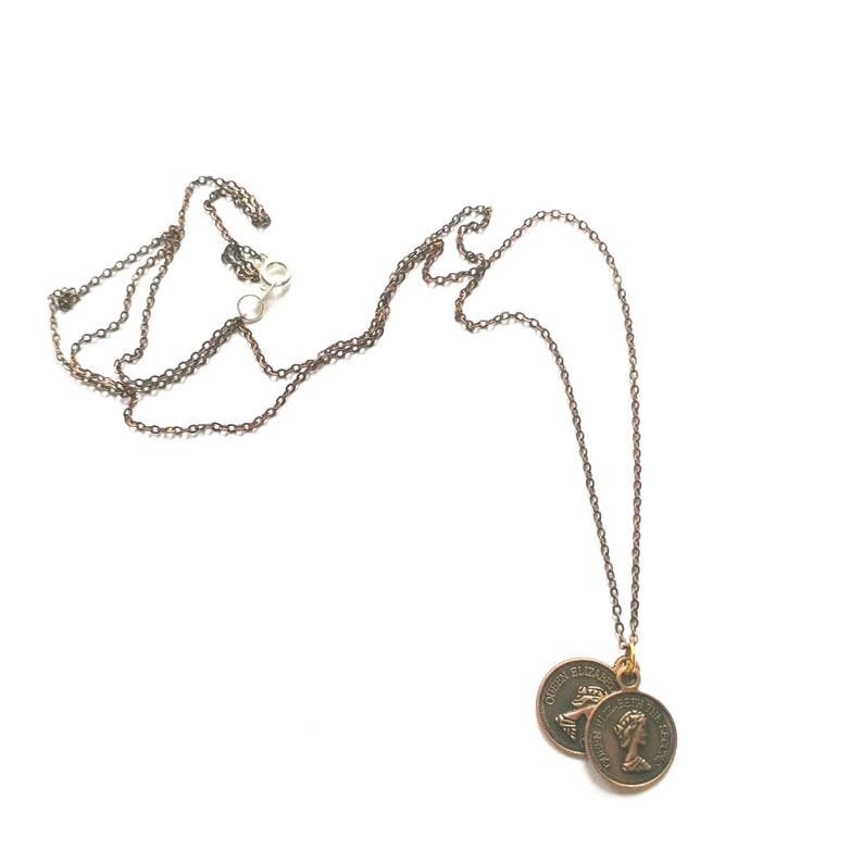 Bronze coloured coin necklace image 0