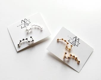 Big Dipper Constellation Ear Climber / zodiac / ursa minor / ursa major / astronomy / star earring / constellation / gift for her