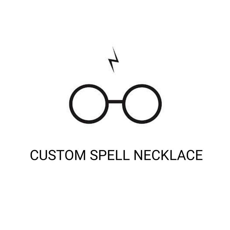 CUSTOM hand bent SPELL NECKLACE / gift / magic / magician/ hp image 0