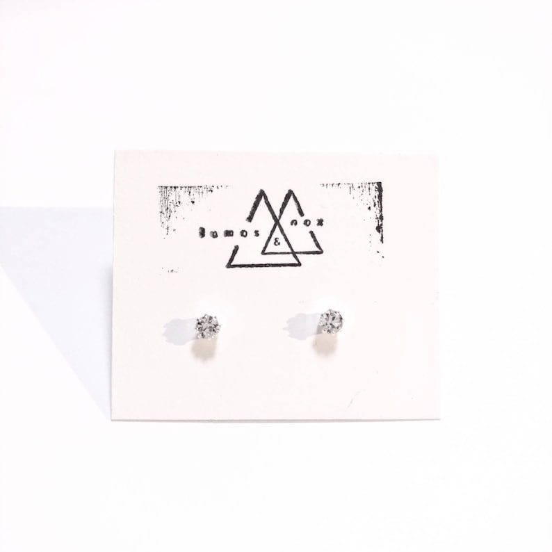 Simple Clear Crystal Studs image 0
