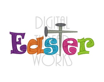 Easter Jesus Nails Machine Embroidery Design for 4x4, 5x7, & 6x10 Hoops Instant Download Crucifixion Good Friday